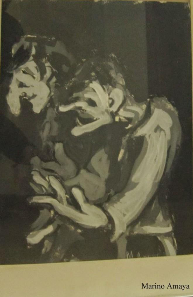 Marino Amaya, pintura negra en picassa