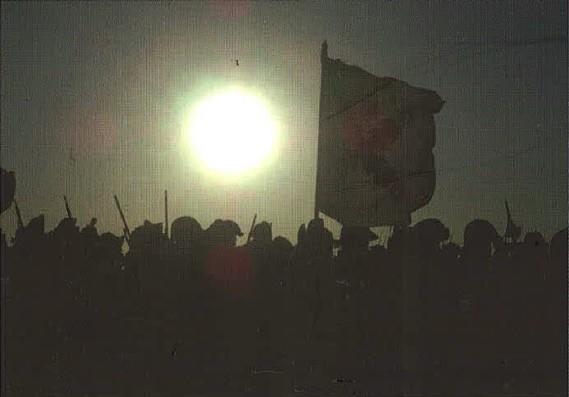 Bandera Española soldados Guerra Independencia
