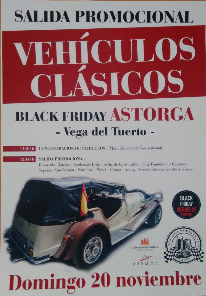 cartel salida promocional black friday astorga