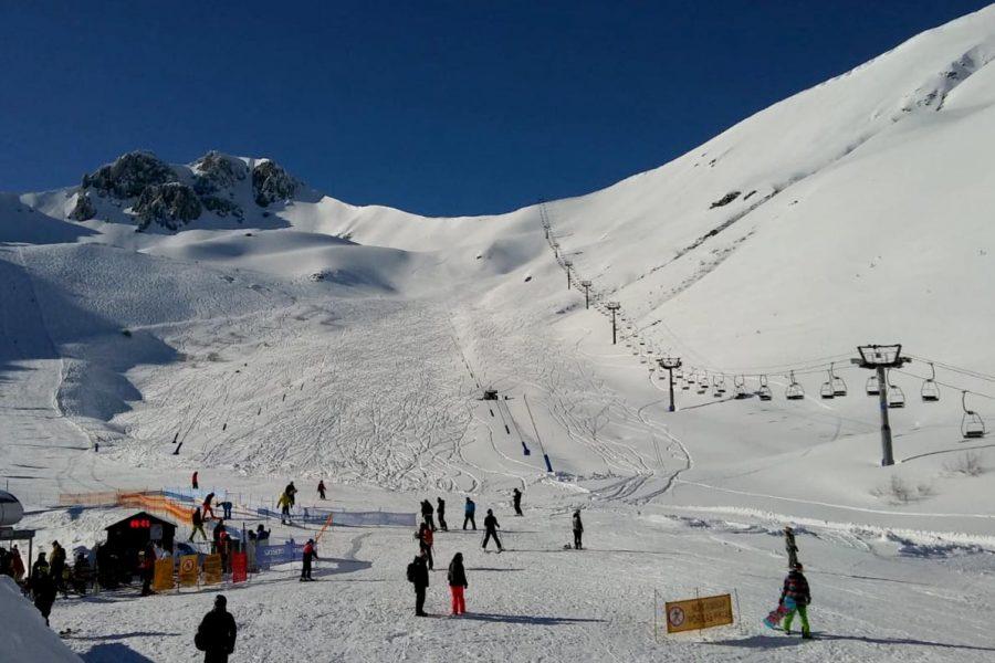 Imagen post esquiadores estación de San Isidro