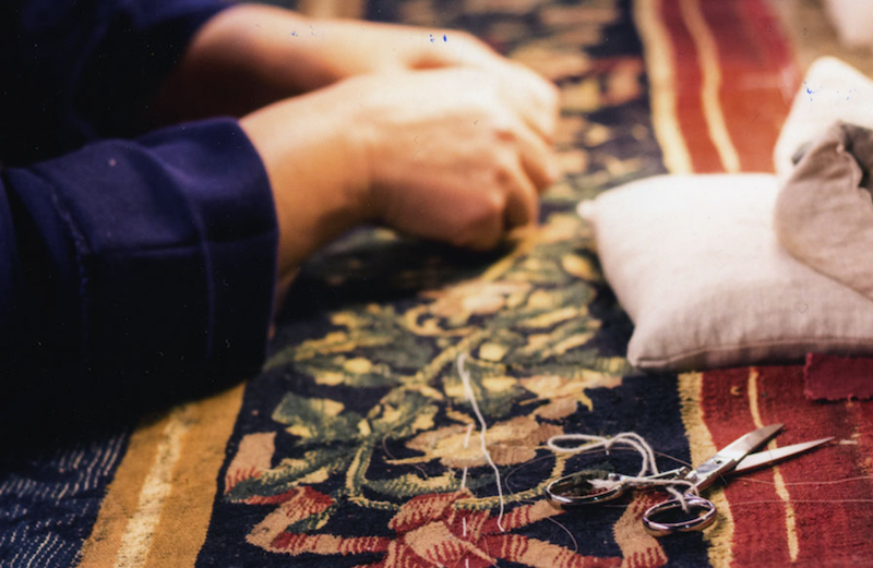 Muestra de los tapices
